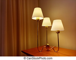 Classic style table lamp decorating a room
