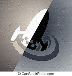 imaginative spaceship icon - Creative design of imaginative...