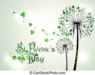 Saint Patrick Day Dandelions With Stars