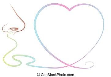 Odor Perception Smell Love Nose Hea - Odor perception with...