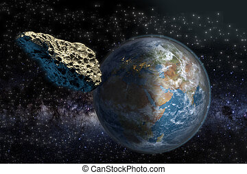 Meteorite close to Earth - Asteroid on a collision course...