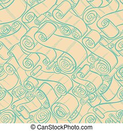 Vintage ribbons and scrolls.  Wallpaper seamless pattern
