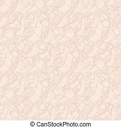 Vintage ribbons and scrolls. Wallpaper seamless pattern -...