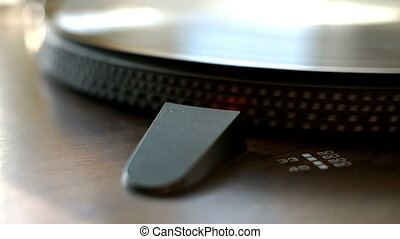 Turntable Spinning vinyl record