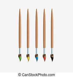 colored brush for drawing