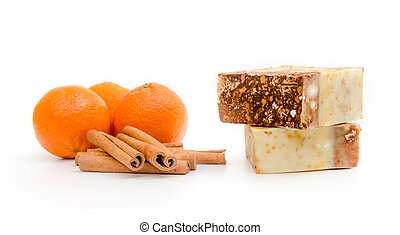 Traditional home made soap - Orange and cinnamon home made...