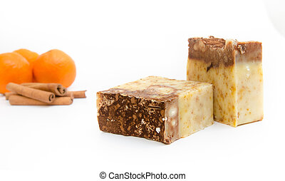 Traditional home made soap - Orange and cinnamon hand made...