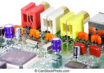 Magnificent multi-coloured electronic components