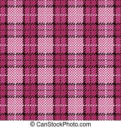Pixel Plaid in Magent and Black