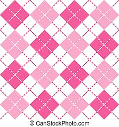 Pink Argyle - Classic argyle pattern in alternating shades...
