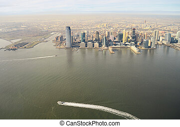 Aerial view of Jersey City.