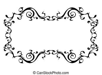 Vintage ornamental vector frame