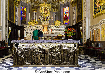 Altar of SantAmbrogio - Inside the church of SantAmbrogio of...