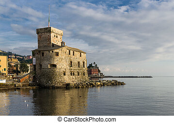 Castle on the Sea - The ancient castle of Rapallo, built on...