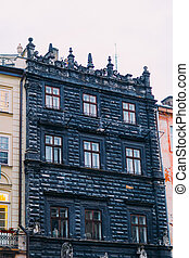 Lviv ancient architecture in city center