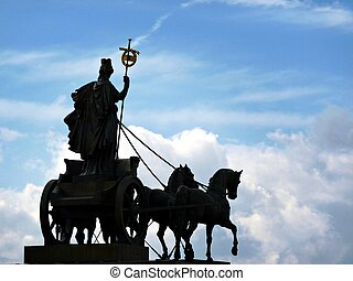 Quadriga - Silhouette of the Quadriga in Brunswick