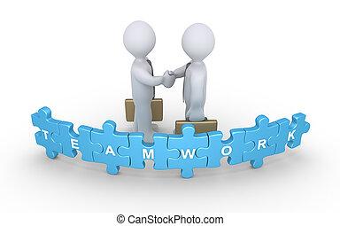 Businessmen agreement for teamwork