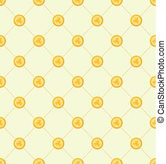 Seamless Simple Pattern with Golden Coins for St Patricks...