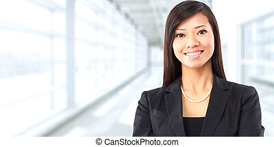 Asian business woman. - Beautiful chinese business woman...