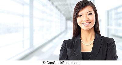 Asian business woman. - Beautiful chinese business woman...