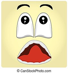 Facial Expression - Yellow background with an abstract...