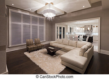 Living room in new luxury house