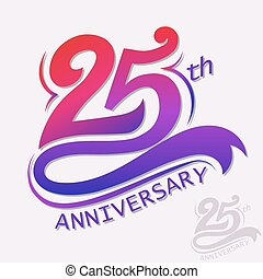Anniversary Design, Template celebration sign - 25th Years...