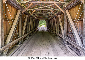 Inside Foraker Covered Bridge - A look inside the historic...