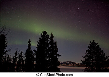 Aurora Borealis (Northern Lights) display - Aurora Borealis...
