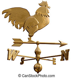 Weathervane - Original isolated illustration of a bronze...