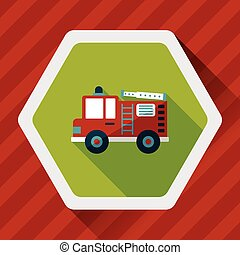 plano, transporte, sombra, eps10, fuego, largo, camión,...