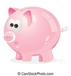 Piggy Moneybox pink - Piggy, Moneybox, pink