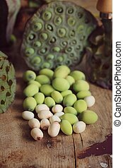 Lotus seed with pod