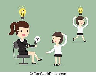 Sharing Ideas - Share Ideas. vector illustration