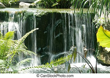 Waterfall at Botanic Gardens, Singapore