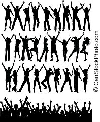 party people - Large collection of silhouettes of party...