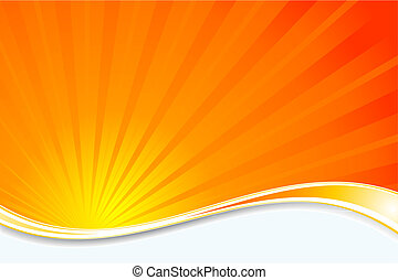 Sunburst background - Abstract background with a sunburst...