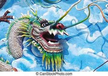 Dragon in Haw Par Villa in Singapore