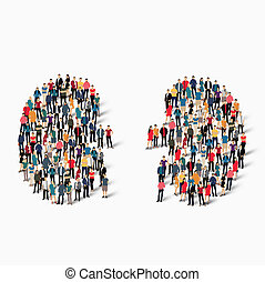 people kidney medicine crowd - A large group of people in...