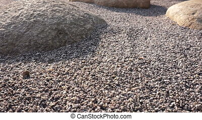 Zen stone garden decorate style - Zen stones and big rock...