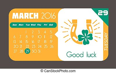 29 March good luck