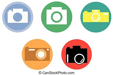 Set of cameras icons