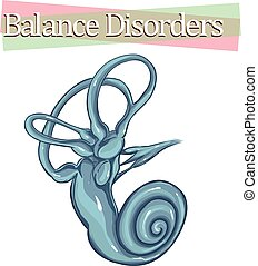 white background vector illustration of abalance disorder