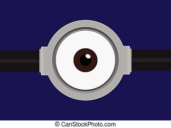 goggle with one eye on purple Color - Vector illustration of...