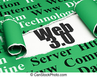 Web development concept: black text Web 30 under the piece...