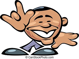 Barack Obama smile isolated on the white background