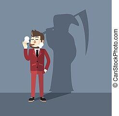 Business man smoking dangerous