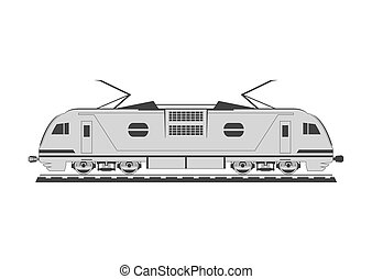 Electric locomotive Isolated on background Vector...