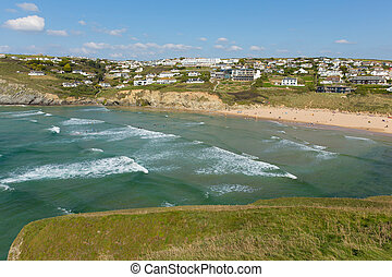 Mawgan Porth north Cornwall waves - Mawgan Porth north...