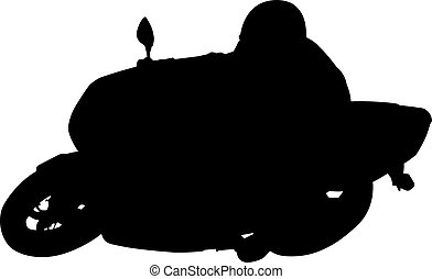 Motorcyclist - an abstract silhouette of a motorcyclist